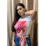 T-SHIRT ABACAXI ROSA