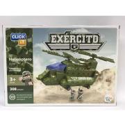Blocos De Montar Click It Helicóptero 308 Peças - Cl-Ex01 Sertic
