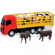 Caminhão Com Boi Na Solapa - Rodotrem Na Caixa - 912 Diverplas