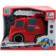 Carro De Bombeiros Mini Car Com Luz Som E Fricção - 8899 Fenix