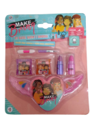 Kit Maquiagem Infantil Paleta De Sombras Coração Mk02 Polibrinq
