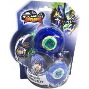 Lançador E Piao De Batalha Nado Super Whisker Azul Candide