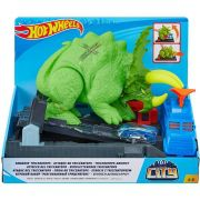 Pista Hot Wheels Smashin Triceratops Gbf97