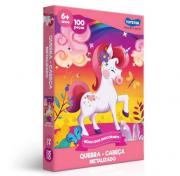 Quebra Cabeça 100 Pcs Reino Dos Unicornios Ref.2573 Toyster