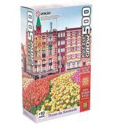 Quebra-Cabeça 500 Peças Flores Em Amsterda Grow 03938
