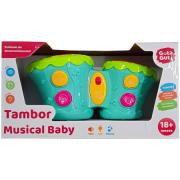 Tambor Musical Baby Cores - Dmb5799 Dm Brasil