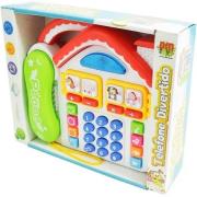 Telefone Infantil Divertido Casa Com Som E Luz - Dmt2961 Dm Brasil