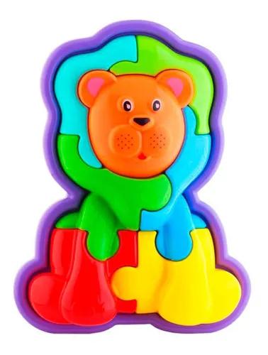 Animal Puzzle 3D Leao Ref.0853 Ta Te Ti - Cor Pode Variar
