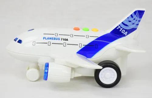 Avião Comercial Infantil Sonoro De Brinquedo - R3039 Bbr