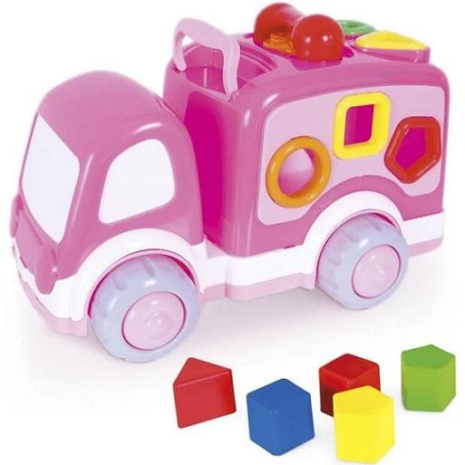 Baby Caminhaozinho Didatico Rosa - 288 Super Toys