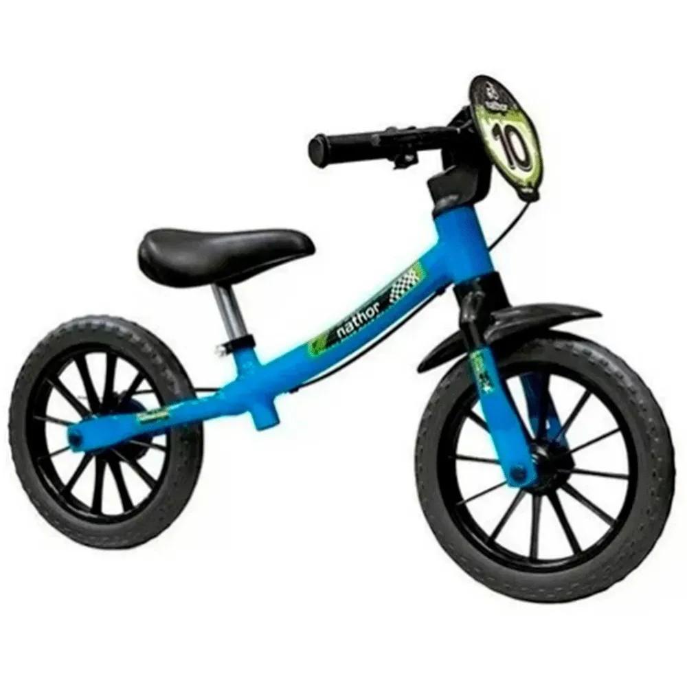 Bicicleta Infantil Aro 12 Sem Pedal Balance Bike Masculina Nathor