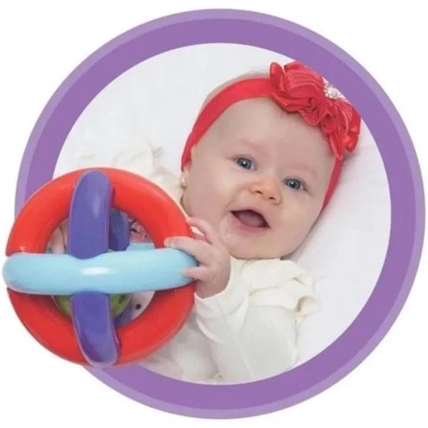 Bola Maluquinha Chocalho Bebê Brinquedo Educativo - 270 Mercotoys