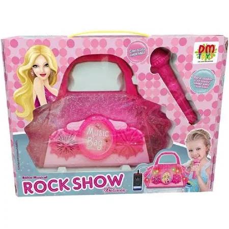 Bolsa Infantil Rock Show Com Microfone - Dmt5899 Dm Brasil