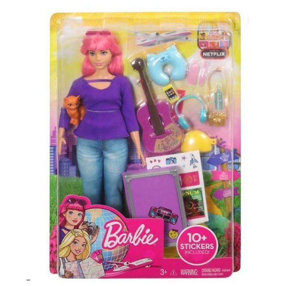 Boneca Barbie Daisy Viajante com Acessorios Mattel FWV26