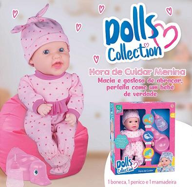 Boneca Hora De Cuidar Xixi Menina Ref.433 Super Toys