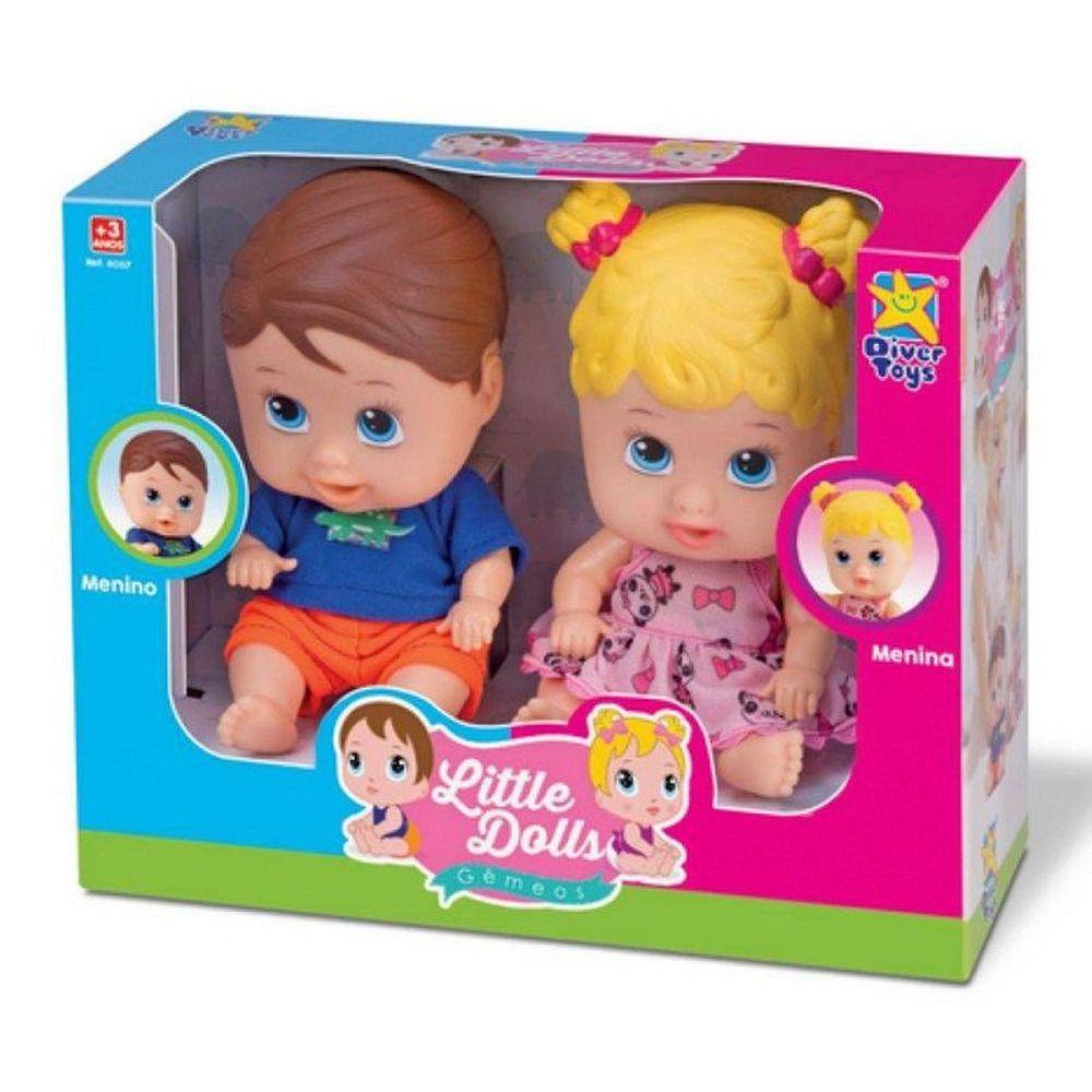 Boneca Little Dolls Gêmeos 8037 Diver Toys