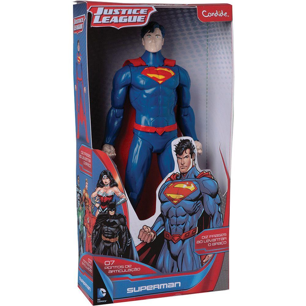 Boneco 14' Super Homem com Som -  Candide