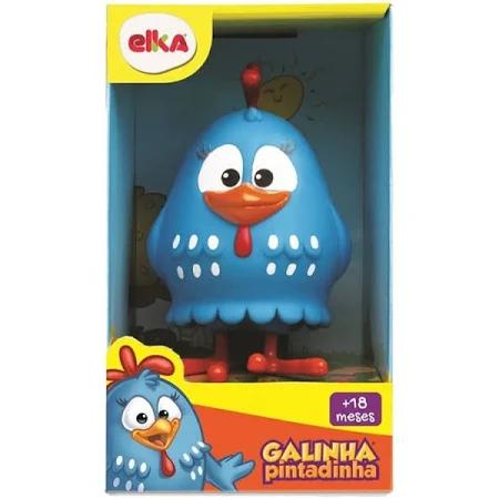 Boneco Vinil Galinha Pintadinha 13 Cm 1127 - Elka