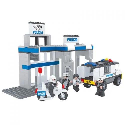 Brinquedo Estação Policial P/ Montar 286 Pcs Clpl05 Sertic
