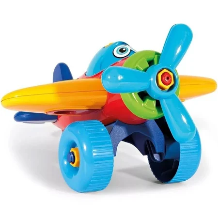 Brinquedo Infantil Bebê Avião Didático Educativo - 7430 Poliplac - Cor Pode Variar