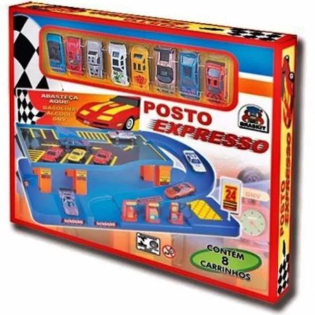 Brinquedo Posto Expresso Com 8 Carrinhos - 7504 Braskit