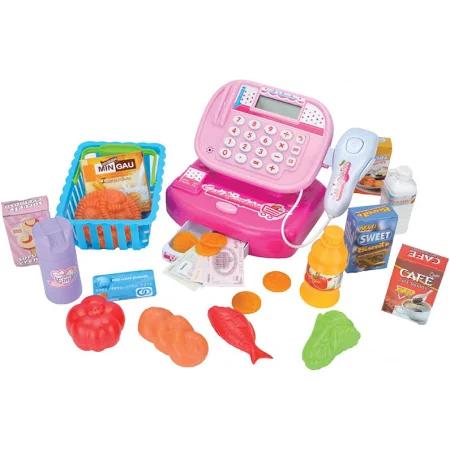 Caixa Registradora Infantil Com Acessórios Rosa - Rc-394 Fenix