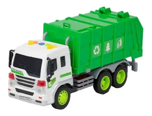 Caminhão De Lixo Reciclagem Realista Com Som E Luz Bbr Toys - R3034 Bbr