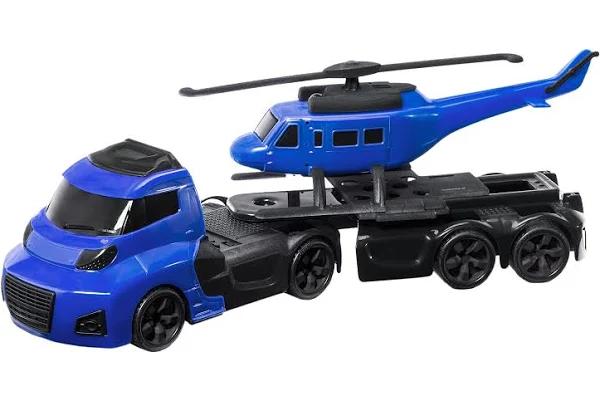 Caminhão Invictus Sky Azul com Helicoptero - 1053 Cardoso