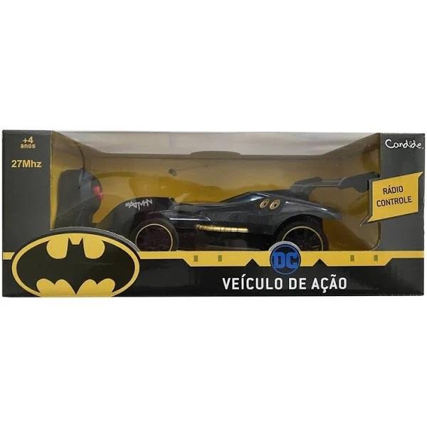 Carrinho Batman Controle Remoto Veículo De Ação - 9055 Candide