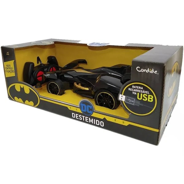 Carrinho De Controle Remoto Batman Destemido - 9027 Candide