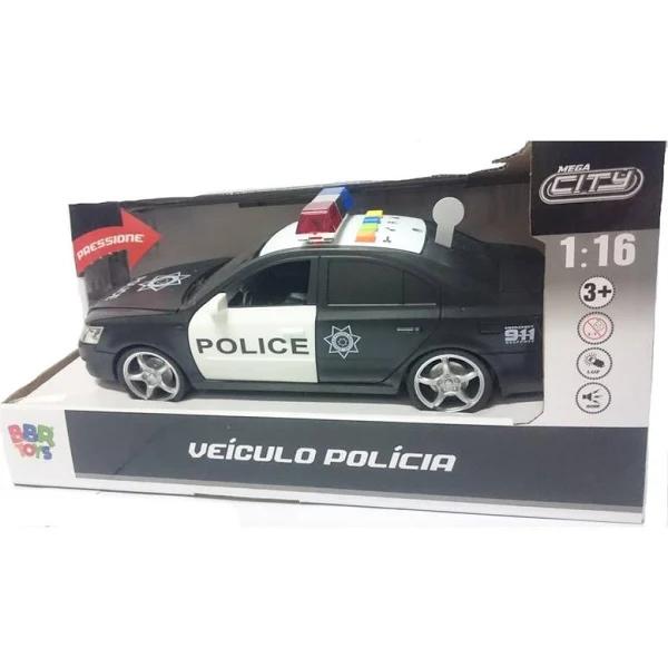 Carro De Polícia Com Som E Luzes - R3038 Bbr