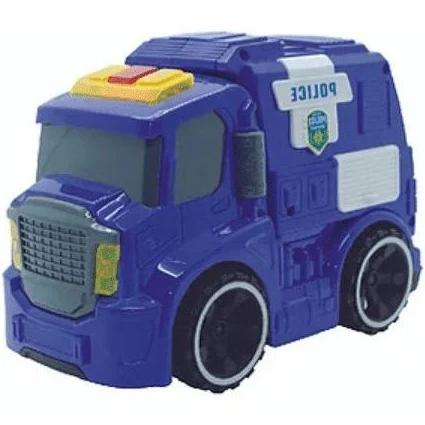 Carro De Policia Mini Car Com Luz Som E Fricção - 8899/1 Fenix