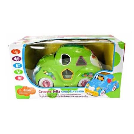 Carro Musical Fusca Verde Ref.813Lx