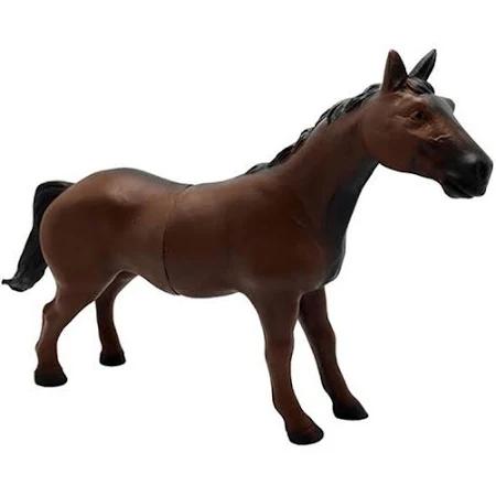 Cavalo De Brinquedo Vinil Cor Marrom 22cm Infantil - Bv233 Db Play