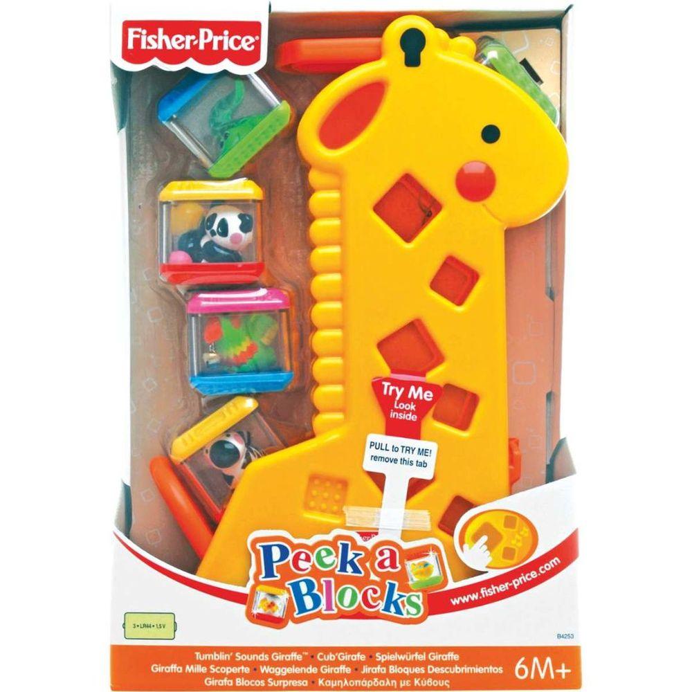 Fisher Girafa Peek A Blocks Ref. B4253 Mattel