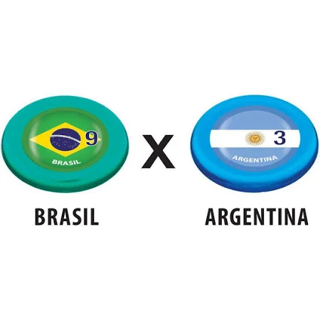 Futebol de Botão Cristal - Brasil x Argentina Copa - 382 Gulliver