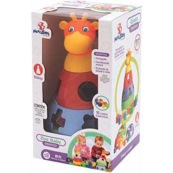 Girafa Didatica - Embalagem na Caixa - 391 Mercotoys