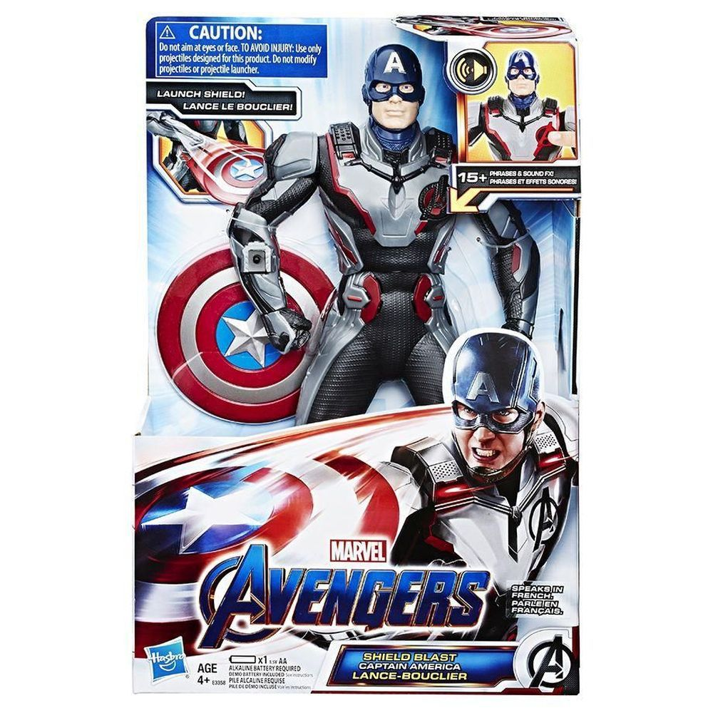 Hasbro Avengers Figura 12 Polegadas Luxo Capitao America E3358