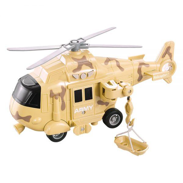 Helicoptero Operacao Resgate Com Luz E Som Co Res Sortidas, DM Toys
