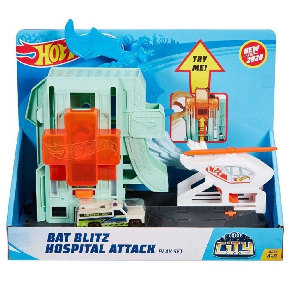 Hot Wheels City Bat Blitz Hospital Attack Playset Ref. Gjk90