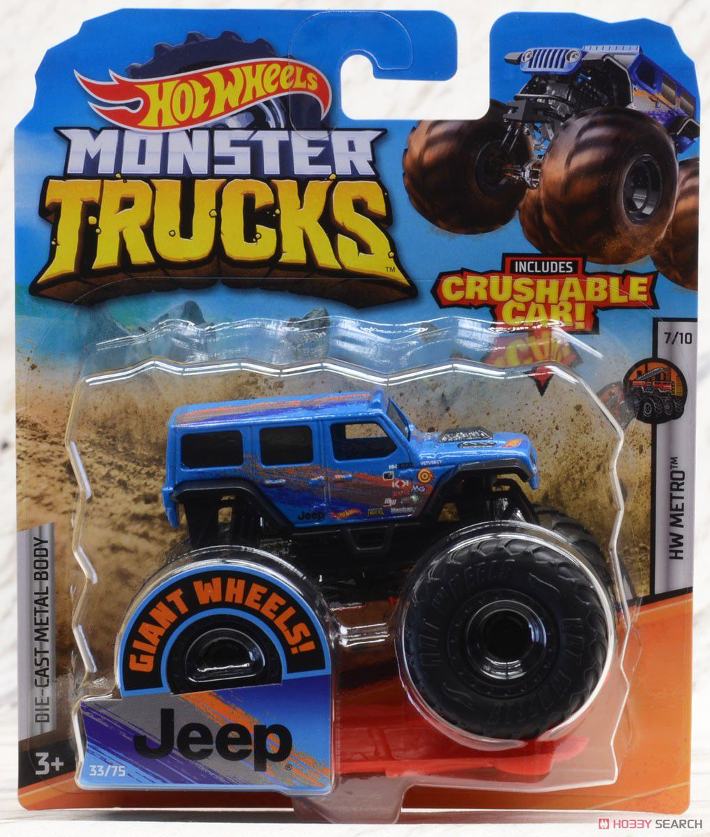 Hot Wheels Monster Trucks Die-Cast Vehicle Ref.Gjf27 Mattel