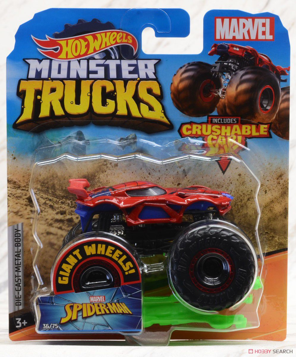 Hot Wheels Monster Trucks Die-Cast Vehicle Ref.Gjf44 Mattel