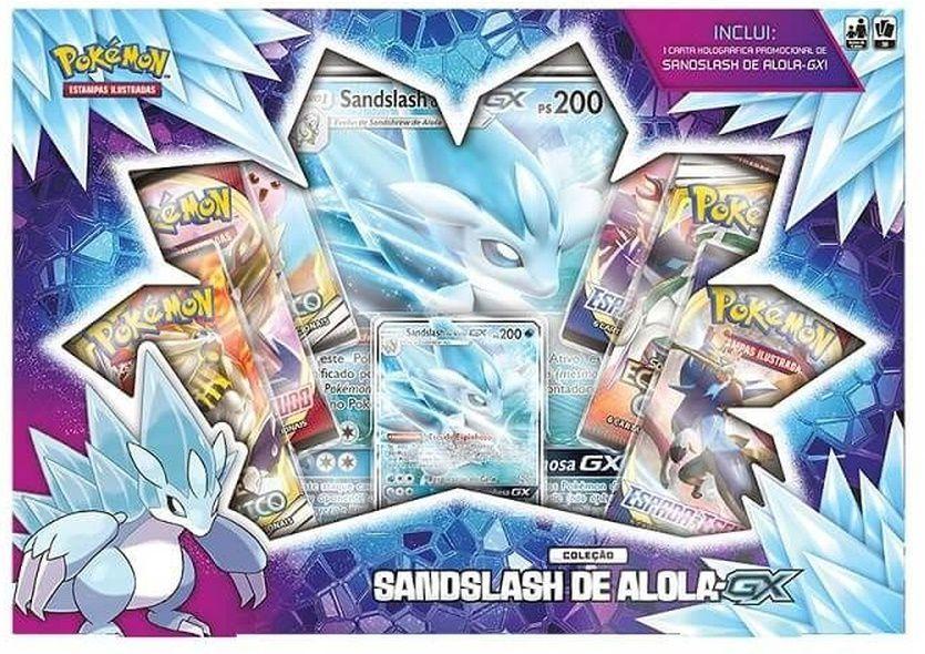 Jogo De Cartas Pokemom Sandslash De Alola - Gx - Copag