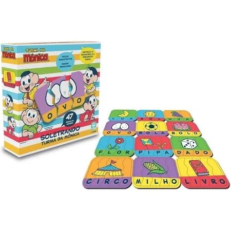 Jogo Encaixe Soletrando Turma Da Monica - 763 Nig Brinquedos
