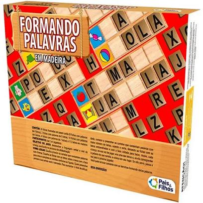 Jogo Formando Palavras em Madeira - 2906 Pais E Filhos