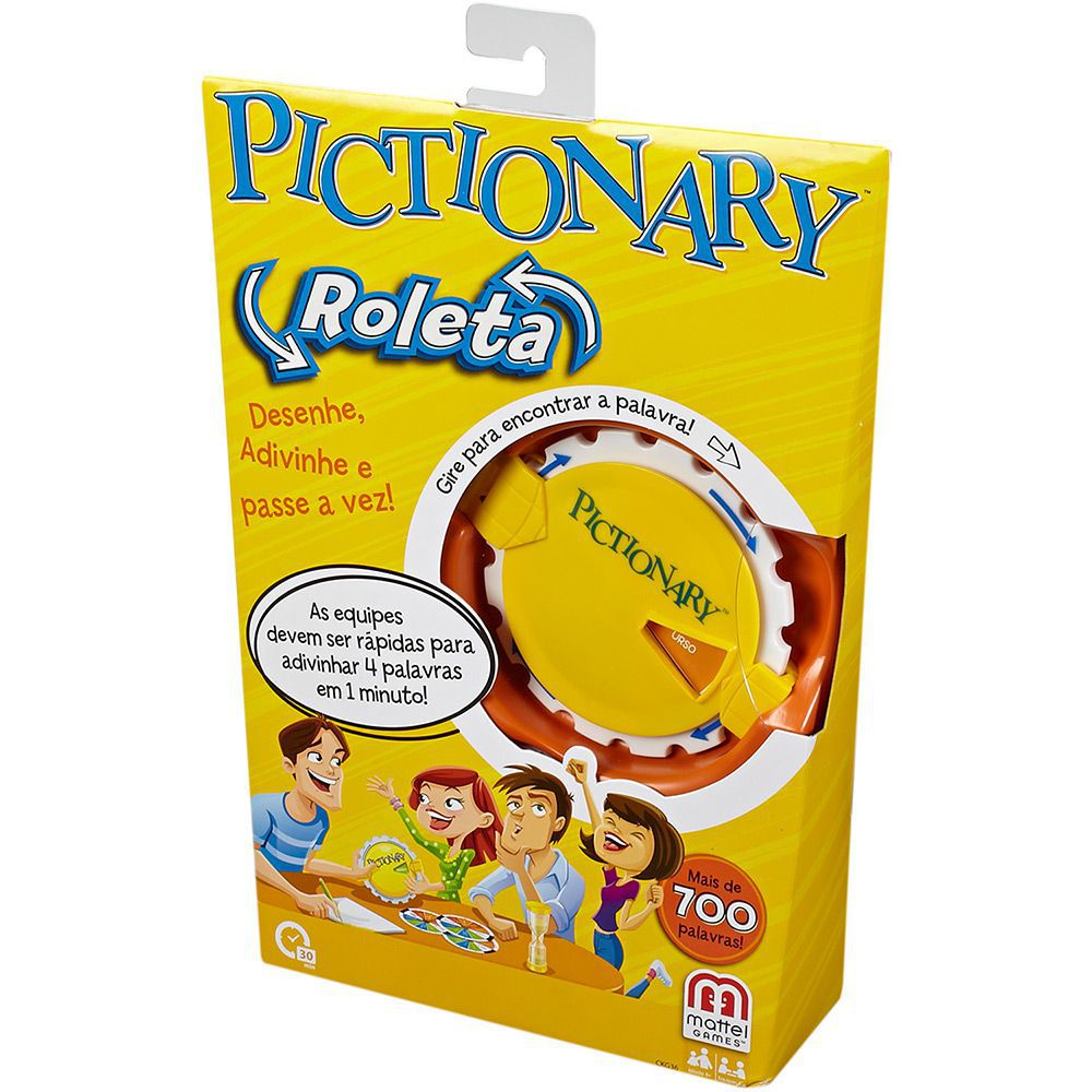Jogo Pictionary Roleta - Mattel