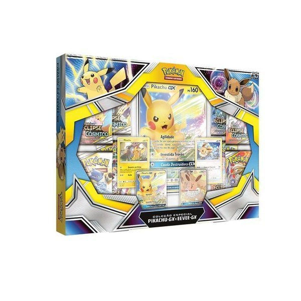Jogo Pokemon BOX Pikachu GX e EEVEE GX Copag 99160