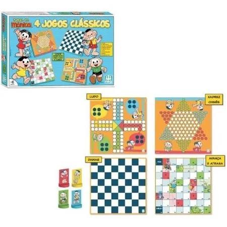 Jogos Kit 4 Em 1 Turma Da Mônica - 76101 Nig Brinquedos