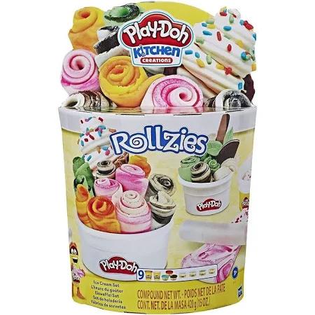 Kit Play Doh Rollzies Sorvete Ref.E8055 Hasbro