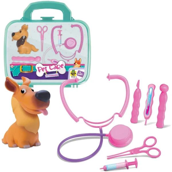 Maleta Infantil Kit Veterinario Pet Care - 0801 Samba Toys